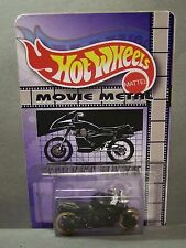 "Custom HotWheels MOTORCYCLE and package of  ""Movie Metal""  from STREET HAWK"