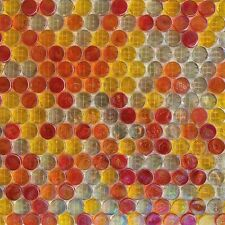 Iridescent Penny Round Glass Mosaic Tile [pack of 5 sheets]