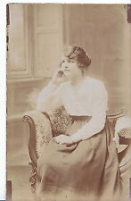 Portrait Postcard - Young Lady Sitting In Chair By Window    BH2667
