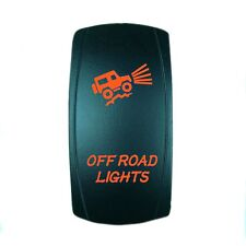 ORANGE 2 POSITION ROCKER SWITCH LASER ETCHED 20A 12V LED OFFROAD LIGHTS