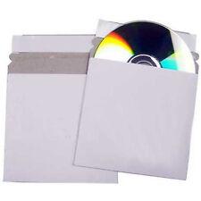 200 CD DVD Cardboard Sleeves Peel and Seal Envelopes / Mailers White