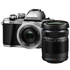 Olympus E-M10 Mark II (Silver) With 14-42mm EZ + 40-150mm Lens Kit + 8GB + Bag