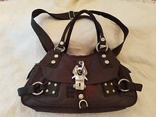 "GEORGE GINA & LUCY Handbag ""Free Me"" Med Large Brown Crossbody German EUC"