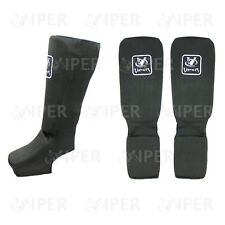 SHIN INSTEP Pads MMA Gamba Piede Guardie Muay Thai Kick Boxing Guard Protector