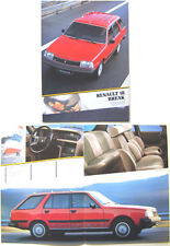 Renault 18 Mark 2 Estate 1984-85 Original French Market Brochure No. 13 142 18