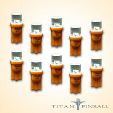 (10 Pack) - 6.3 Volt LED Bulb Flat Top 555 Base (T10) Pinball - ORANGE