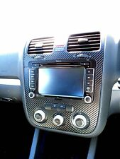 VW Golf Mk5 Jetta Bora Rabbit  Carbon Fibre effect dash surround + air vents 05