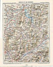 Les Beauges 1882 pt. carte + guide Le Châtelard Semnoz École Col des Prés Thoiry
