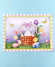 Easter Bunny Basket Spring Seasonal Kitchen Dishwasher Magnet Home Decor
