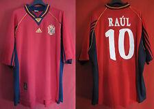 Maillot Espagne Raul n° 10 ESPANA 1998 Domicile camiseta Spain Football - XL