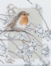 Lanarte Pájaro Cross Stitch Kit Robin