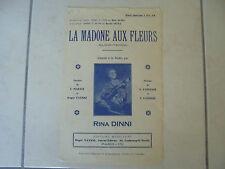 partition : La Madone aux Fleurs (1936)