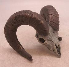 Bronze Sculpture - Rams Head with Horns - Cold Painted