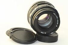 HELIOS 44M-4 2/58mm Soviet SLR Lens Pentax Zenit M42 + Adapter for canon N117844