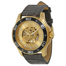 Invicta Specialty Hand Wind Skeletal Dial Grey Leather Mens Watch 17262