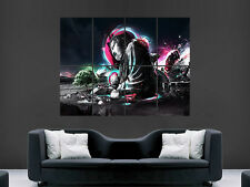 TRIPPY BUDDA ABSTRACT ART COLOUR LARGE  BIG HUGE GIANT POSTER PRINT