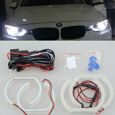 4x WHITE Led SMD 6000k ANGEL EYE RINGS Halo light For BMW E90 E92 coupe