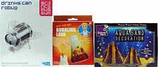 Set Of 3 Kid's Science Kits - Make Your Own Bubbling Lava, Aqua Sand, Robot Bug