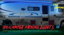 16' RV LED Awning Lights Set w/44 key Remote control MULTI COLOR camper coleman