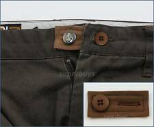 Brown Extension & Button Pants Shorts Jeans Trouser Waist Expander Extend Size B