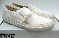 Frye Company Gavin Slip-On 9M Fashion Sneakers Off White Vintage Leather Women's