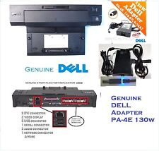 Dell USB 2.0 PR02X E-Port Plus Replicator Docking Station + PA-4E AC Adapter