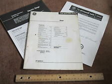 GE Range Guide Manual JB391GK,JB400GK,JB490GJ,JSP27J,JSP28GJ Instructions Stove