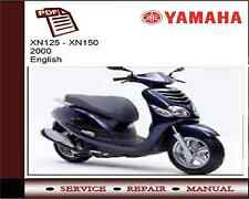 Yamaha XN125 - XN150 2000   Service Repair Workshop Manual