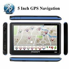 "5"" Car Truck GPS Navigation Sat Nav Bluetooth 8GB  XGODY Navigator+Free Maps New"