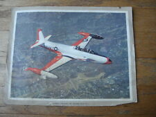 Vintage U.S. Navy Lockheed Two-Place Jet Trainer TV-2 Color Print