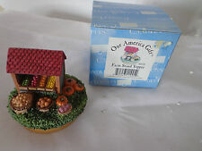 OUR AMERICA GIFT The Original CANDLE TOPPER Farm Produce Stand NE445 New In Box