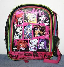 Monster High Knapsack Book Bag - Good Condition 2013 Mattel