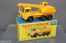 MATCHBOX  LESNEY MODEL NO.63c DODGE CRANE TRUCK   VN  MIB