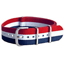 New Nylon Watch Band French Flag Strap 22mm Width Watch Band Replacement Fashion