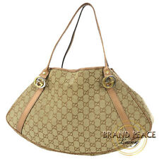Gucci GG pattern twins tote bag canvas beeju / bronze 232963 Free Shipping