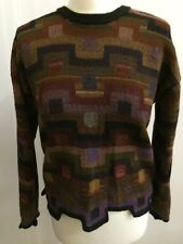 PERUVIAN CONNECTION Jumper Cropped Sweater Unusual Edging 100% Pima Cotton Sz S