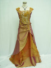 Cherlone Gold Ballkleid Brautkleid Damenkleider Abendkleid Brautjungfer Kleid 40