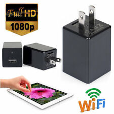 1080P HD Wifi USB Spy Hidden Camera DVR Phone Wall Charger AC Adapter Plug