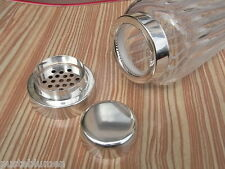 "Kristall Glas Design "" Cocktail Shaker WMF "" versilbert NS Top silver plated"
