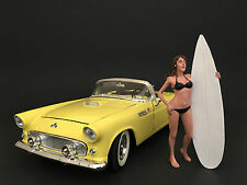SURFER CASEY FIGURE FOR 1:18 DIECAST MODEL CARS BY AMERICAN DIORAMA 77439