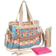 KF Baby Bohemian Diaper Bag Crossbody Strap Stroller Large Tote carrier clips