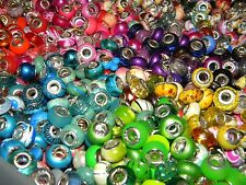 NEW LOT Charm 925 Silver European (300/pcs lot) Assorted Style MIX BEADS (USA)