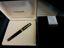 PENNA STILOGRAFICA AURORA OPTIMA 997 PENNINO ORO FOUNTAIN PEN BLACK GOLD RARE