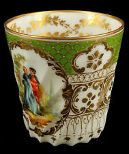 Antique Richard Klemm Dresden Rococo HP Teacup Courting Scene