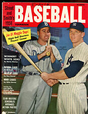 1956 Street & Smith Baseball Yearbook With Mickey Mantle & Duke Snider Cover
