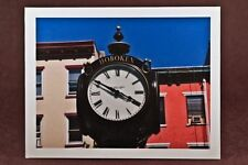 Photograph Note Cards, Blank Note Cards, Homemade, Any  Occasion, Hoboken Clock