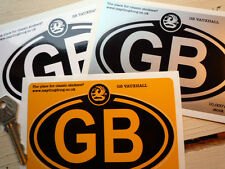 VAUXHALL logo on GB oval car sticker 5in/125mm Corsa Astra Viva Chevette Victor