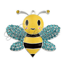 41x45mm Bumble Bee Rhinestone Pendant Rhinestone Pendant For Kid Necklace