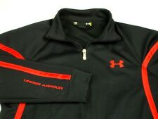 Under Armour Warmup Jacket Loose Black Red Trim Sz S GUC