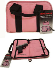 Winchester Pink Women's Sporting Pistol Revolver Case Zippered Hand Gun Bag 11""